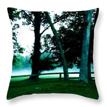 Distant Fog Throw Pillow