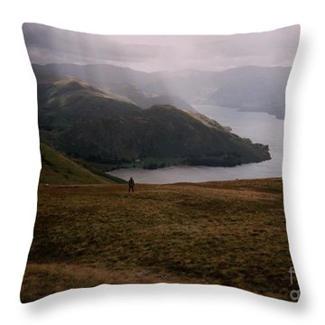 Throw Pillow featuring the photograph Distant Hills Cumbria by John Williams