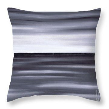 Throw Pillow featuring the painting Distant by Kenneth Clarke