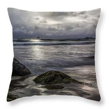 Distant Lighthouse II Throw Pillow