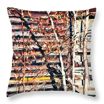 Distant Memories Throw Pillow