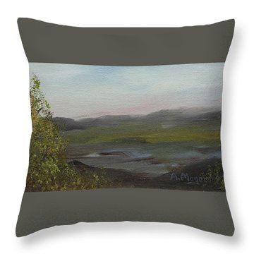 Distant Mist Throw Pillow by Alan Mager
