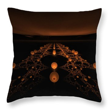 Distant Runway Throw Pillow by GJ Blackman