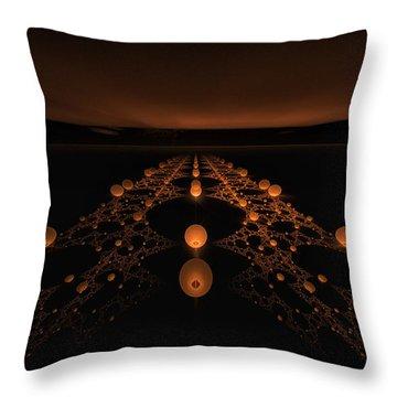 Distant Runway Throw Pillow