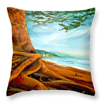 Throw Pillow featuring the painting Distant Shores Rejoice by Meaghan Troup