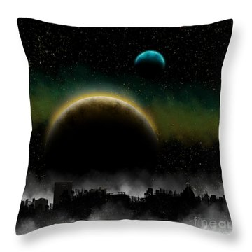 Distant Skys Throw Pillow by Thomas OGrady