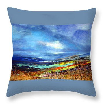 Distant Vista Throw Pillow by Jan VonBokel