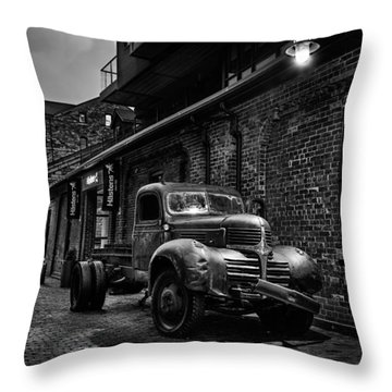 Distillery District Toronto Mono Throw Pillow