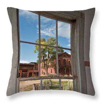Through The Wavy Glass Throw Pillow