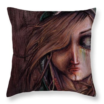 Disturbance Of The Pain-sensitive Structures In My Head Throw Pillow by Rouble Rust