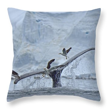Disturbed Throw Pillow by Tony Beck