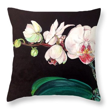 Diva Throw Pillow by Iya Carson