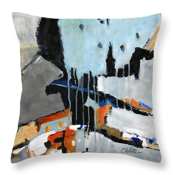 Divergent Throw Pillow by Ron Stephens