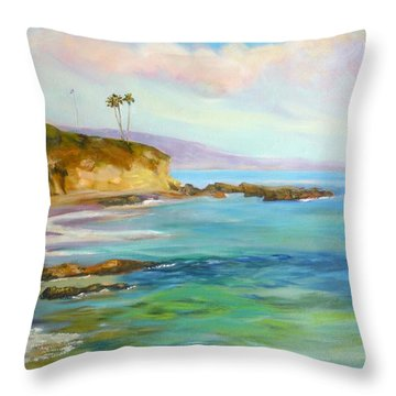 Divers Cove Throw Pillow by Renuka Pillai