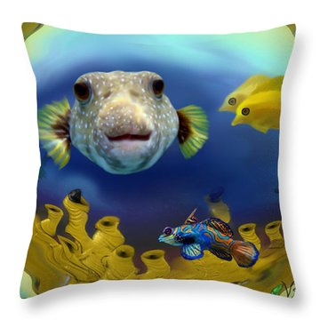 Diver's Perspective Throw Pillow