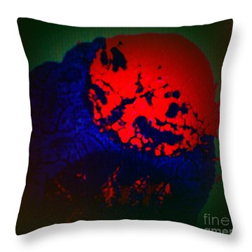 Throw Pillow featuring the painting Divide by Jacqueline McReynolds