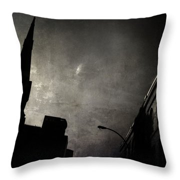 Divided  By Belief  Throw Pillow by Empty Wall