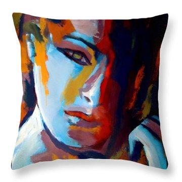 Divided Throw Pillow by Helena Wierzbicki