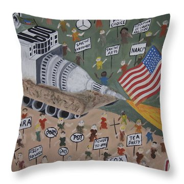 Divided We Stand Throw Pillow by Dean Stephens