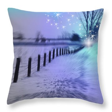 Dividing Chaos With Magic Throw Pillow by Cathy  Beharriell