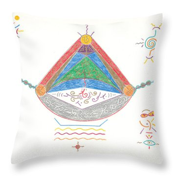Divine Balance Throw Pillow