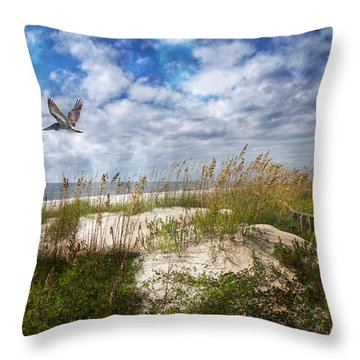 Divine Beach Day  Throw Pillow by Betsy Knapp