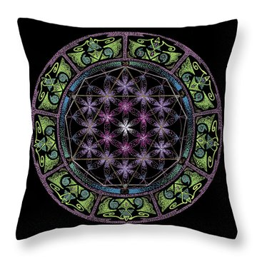 Divine Feminine Energy Throw Pillow by Keiko Katsuta