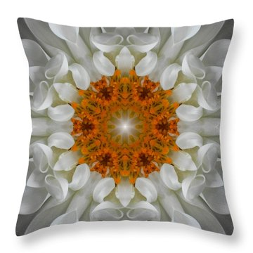 Divine Love Flower Mandala Throw Pillow