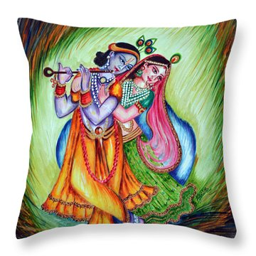 Divine Lovers Throw Pillow by Harsh Malik