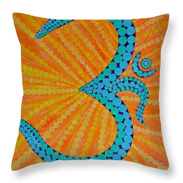 Divine Radiance Throw Pillow by Sonali Gangane