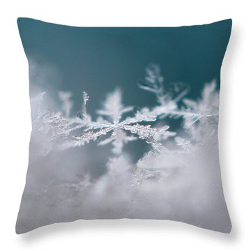 Divine Snowflake Throw Pillow