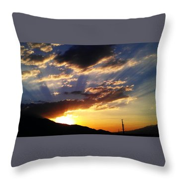 Throw Pillow featuring the photograph Divine Sunset by Chris Tarpening