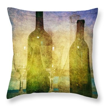 Divine Wine Throw Pillow by Judy Hall-Folde