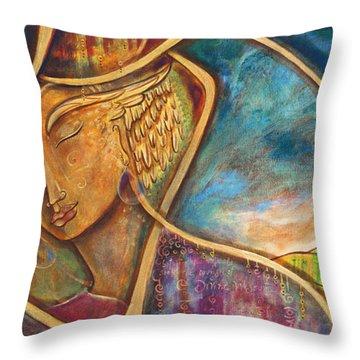 Divine Wisdom Throw Pillow by Shiloh Sophia McCloud
