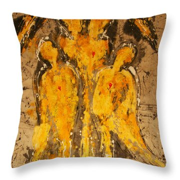Divinely Protected Throw Pillow