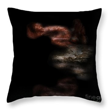 Throw Pillow featuring the digital art Diving In by Nicholas Burningham