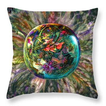 Throw Pillow featuring the painting Divining Lace by Robin Moline