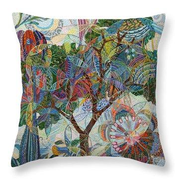Divinitas Throw Pillow by Erika Pochybova