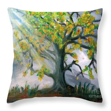 Divinity Inspired Throw Pillow by Leanne Seymour
