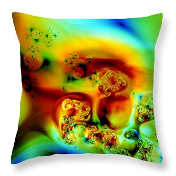 Throw Pillow featuring the digital art Divinorum by Arlene Sundby