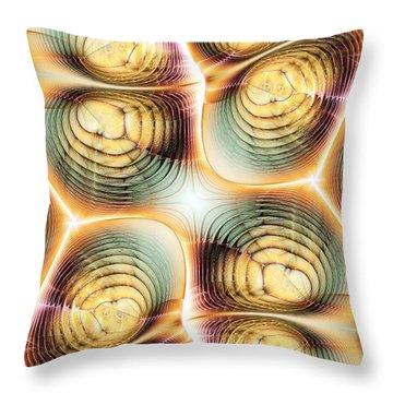 Division Throw Pillow by Anastasiya Malakhova