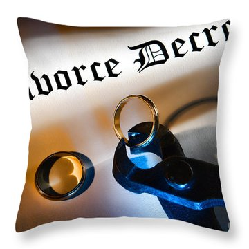 Divorce Decree Throw Pillow by Olivier Le Queinec