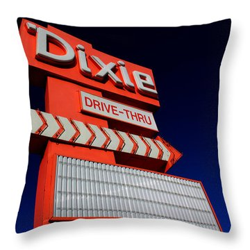 Dixie Drive Thru Throw Pillow