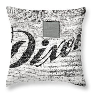 Dixon's Wall Sign Throw Pillow by Andy Crawford