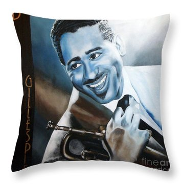 Dizzie Gillespie Throw Pillow