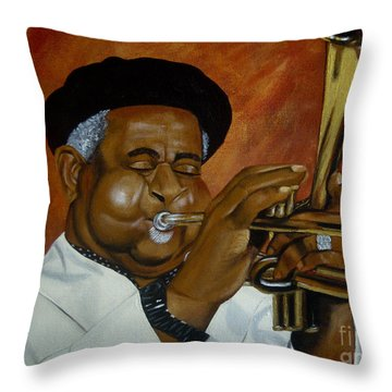 Dizzie Gillespie In Color Throw Pillow