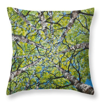 Dizzy Aspens Throw Pillow