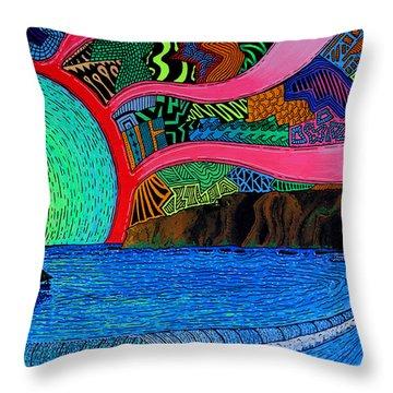 Dizzy Dana Point Throw Pillow by Sam Bernal