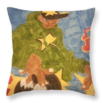Dj Rapper Throw Pillow