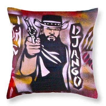 Django Blood Red Throw Pillow by Tony B Conscious